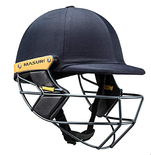 Masuri T Line Steel Senior Cricket Helmet (Medium, Black)