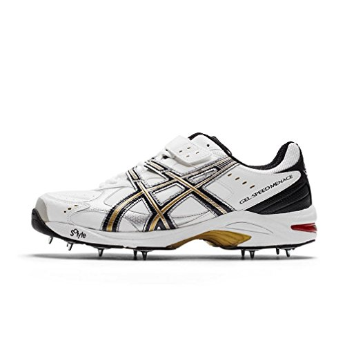 ASICS Gel-Speed Menace Cricket Shoes - 8 White