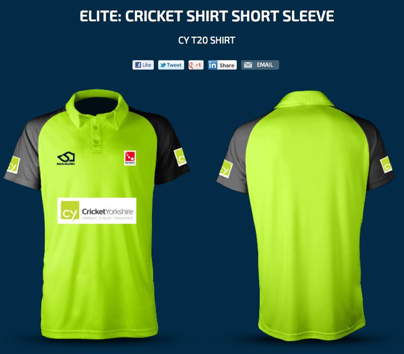 cricket yorkshire shirt