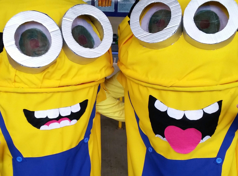 minions at the cricket