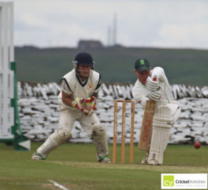Blackley Cricket Club batsman forward defence