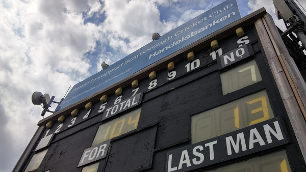 scarborough cricket club scoreboard