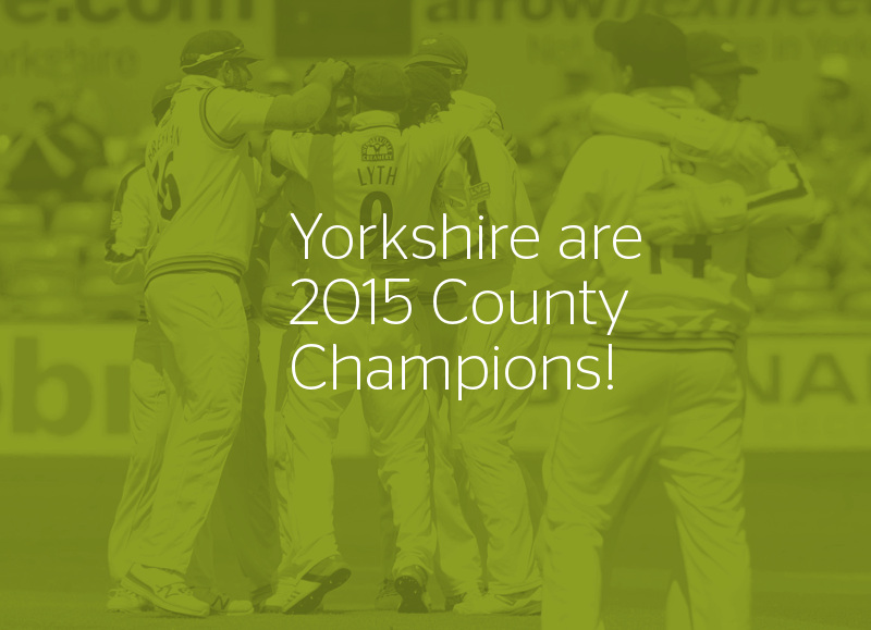 Yorkshire CCC county champions