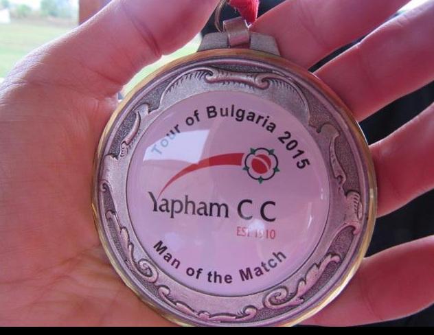 bulgaria cricket medal