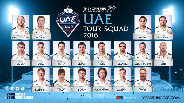 Yorkshire CCC UAE 2016