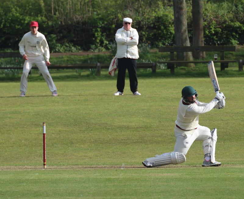 batsman hit a boundary