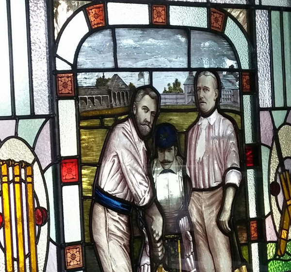Lancashire CCC stained glass