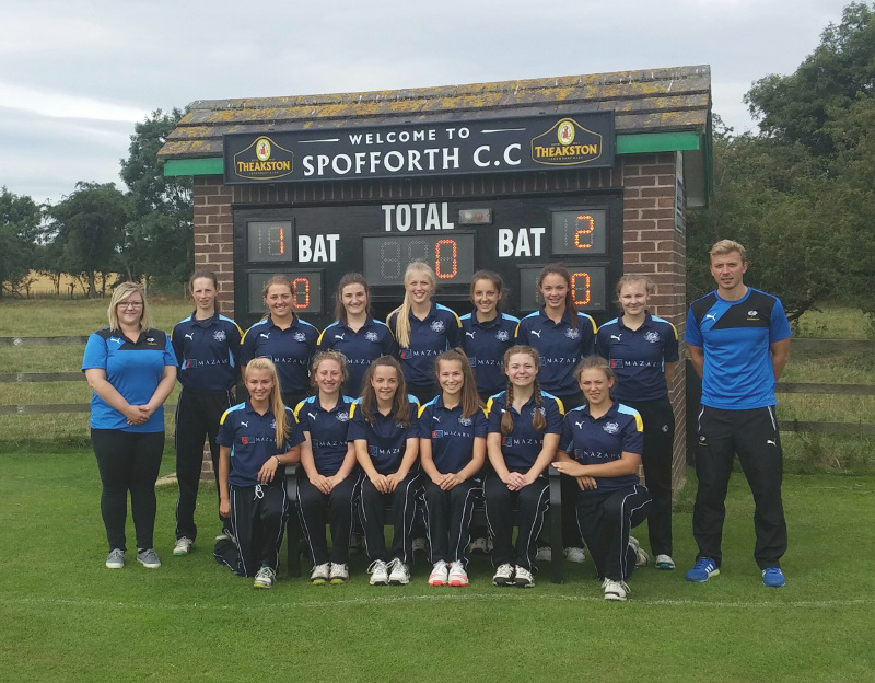Yorkshire U17 girls cricket