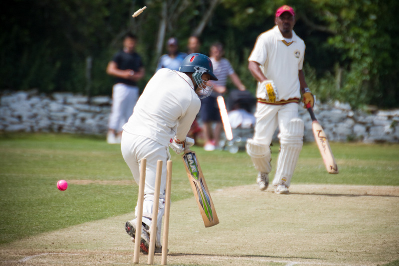 cricketer bowled out
