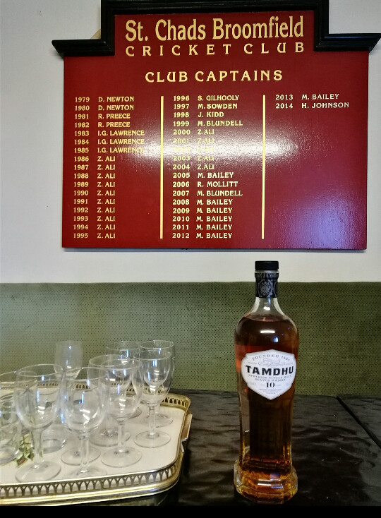 whisky tipple for cricket