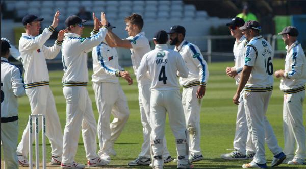 ben coad celebrating a wicket