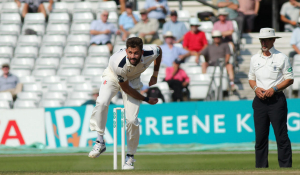 liam plunkett bowls for yorkshire ccc