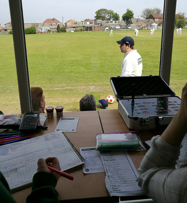 cricket scoring at old sharlston cricket club
