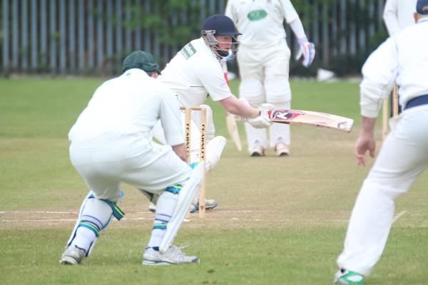 tom craig shapes a cut shot for old sharlston cricket club