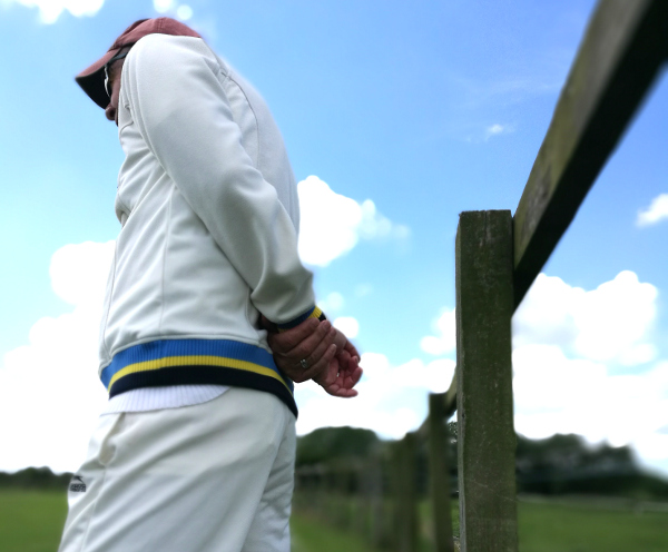 cricketer fields by the fence at church fenton cricket club