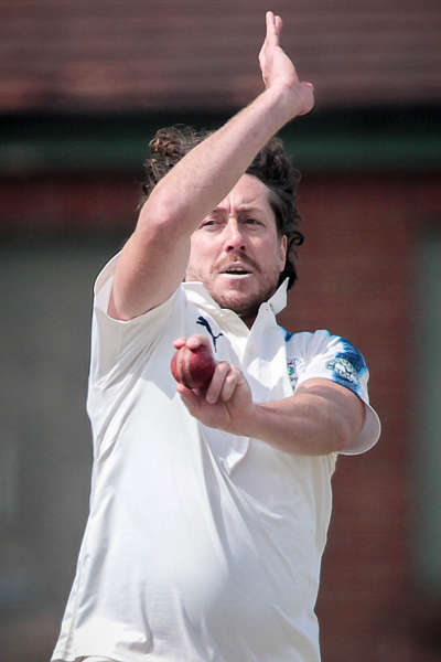 RYAN SIDEBOTTOM BOWLS FOR YORKSHIRE