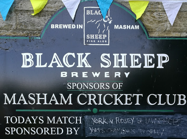 Masham Cricket Club sign