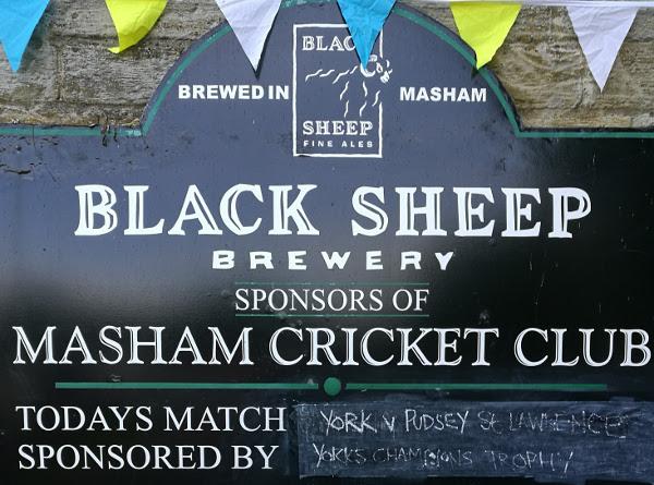 Masham Cricket Club sign