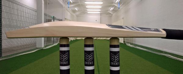 B3 Cricket stumps and cricket bat