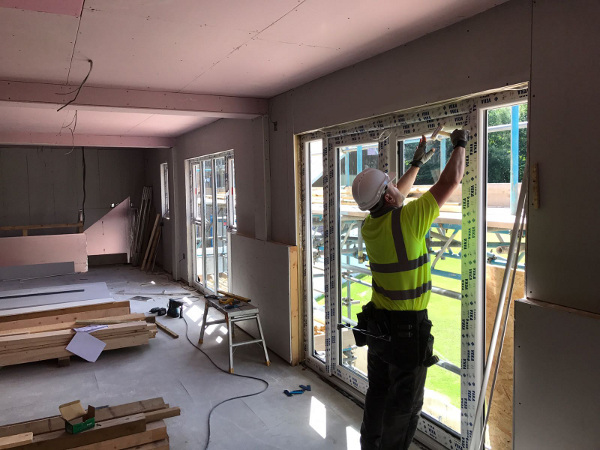 Sowerby Bridge Cricket Club clubhouse being built