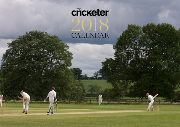 Picture of a cricket ground with a match going on; image of The Cricketer Calendar 2018