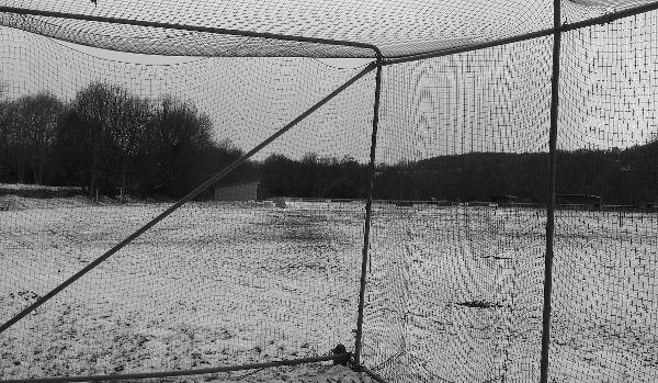 cricket nets in the snow