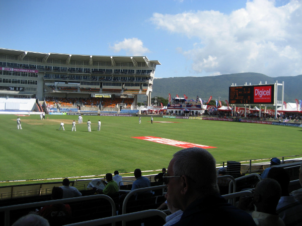 view of newlands cricket ground including table mountain