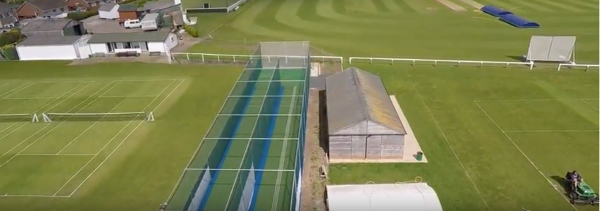 aerial view - driffield cricket club nets by total-play
