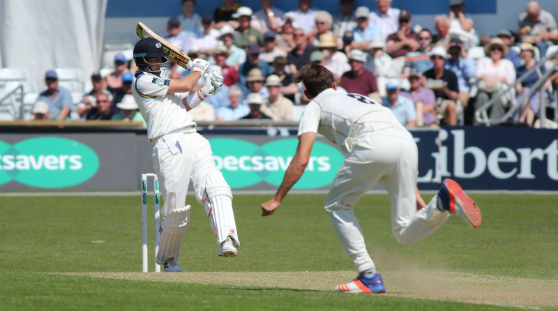 Joe Root bats for Yorkshire