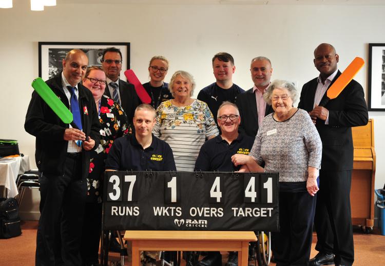 Clock cricket at Abbeyfield
