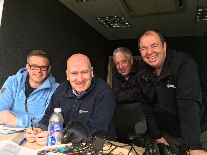 jonathan didge at trent bridge with BBC commentary team