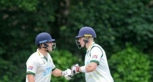 New Farnley batsmen Steve Bullen and Matthew Waite