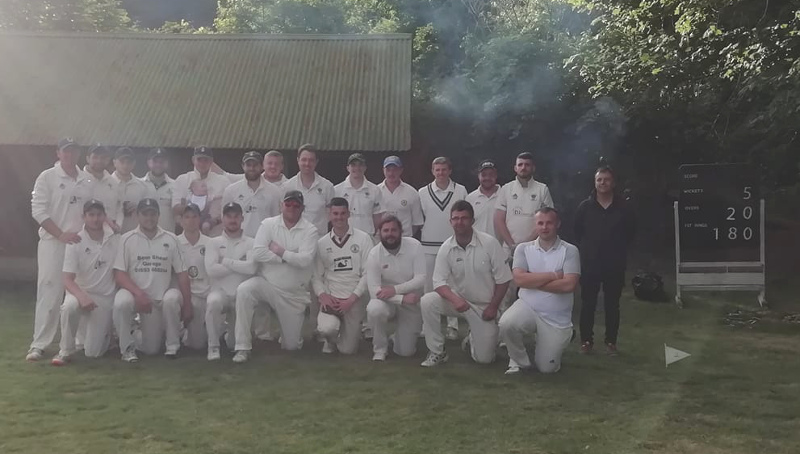 Lockton CC - first game - squad picture of both teams
