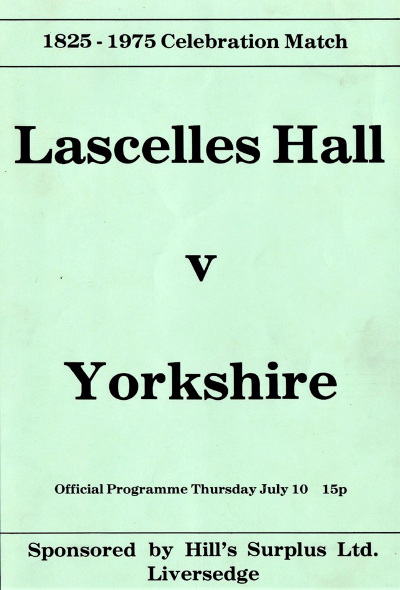 lascelles hall cricket poster