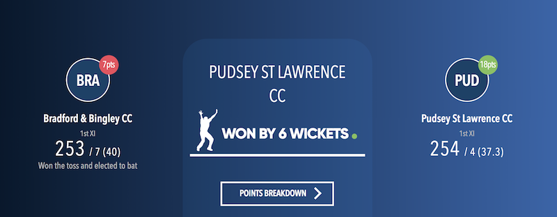 Bradford Cricket League - Bradford & Bingley vs Pudsey St Lawrence