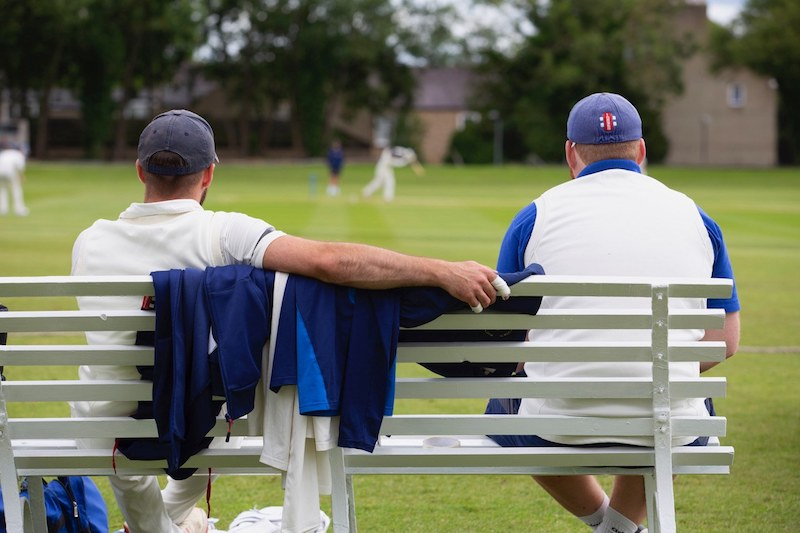 NYSD cricketers watch the action