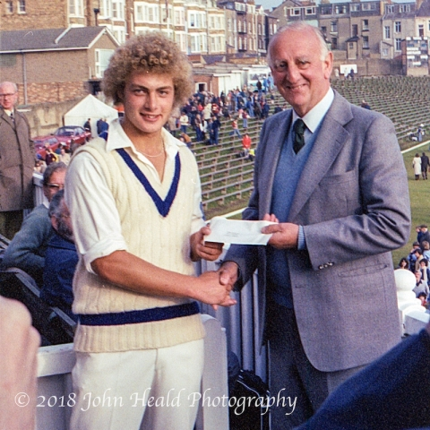 Scarborough Cricket Festival: Kevin Sharp wins Man of the Match, presented by Brian Johnston