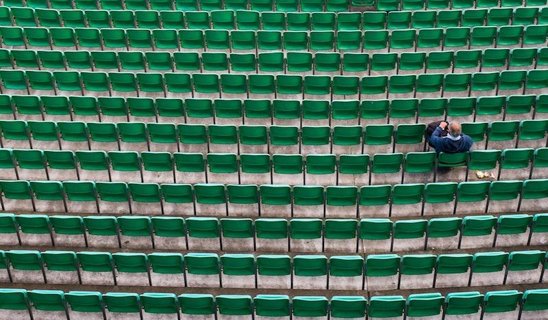 county cricket fan - socially distancing