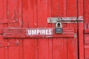cricket umpires hut