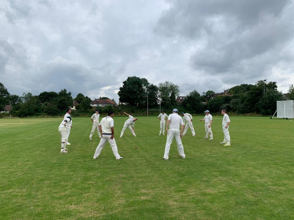 norton woodseats cricket - warming up