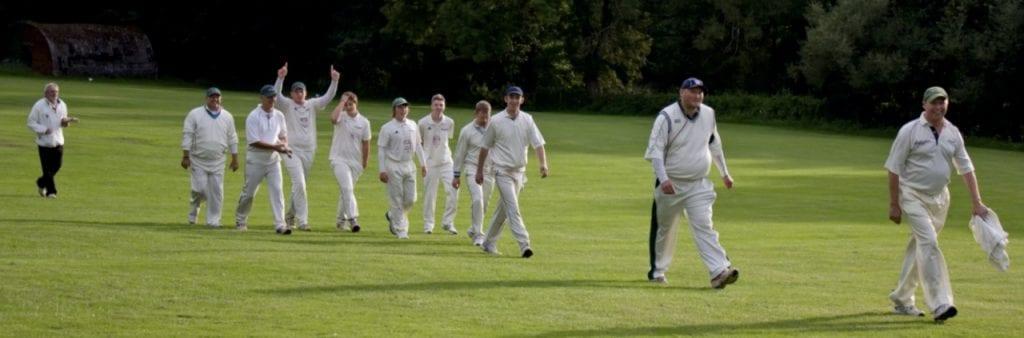 richard wells - 1,000 wickets in sheffield cricket walks off the field
