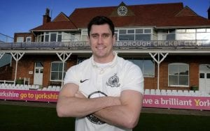Pat Roberts Scarborough Cricket Club captain poses outside the pavilion