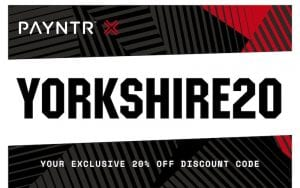 YORKSHIRE20 - PAYNTR DISCOUNT