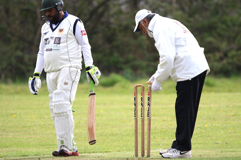 bails replaced by bradford mutual sunday league umpire