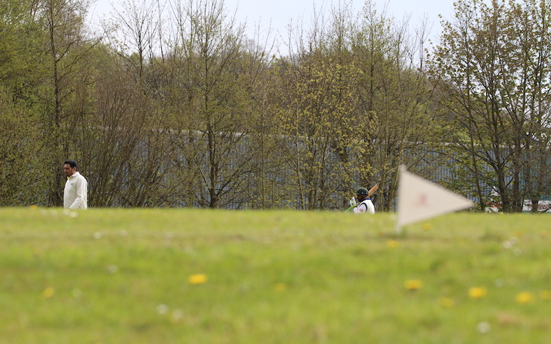 slope at cricket match in Yorkshire
