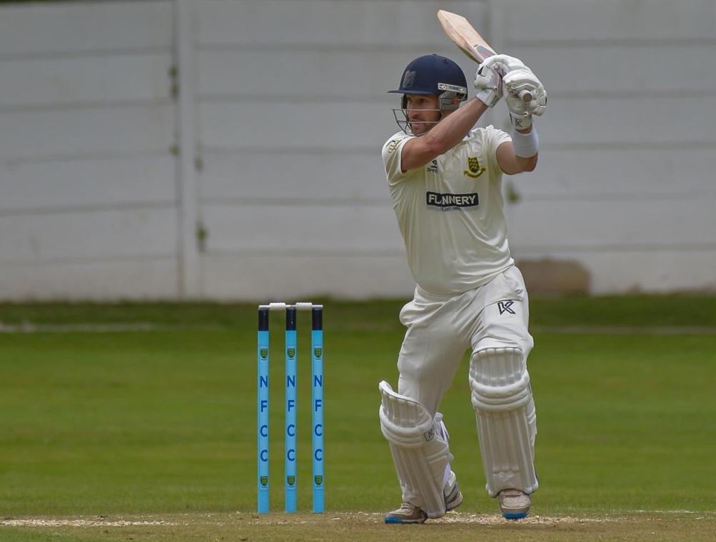 lee goddard bats for new farnley cricket club