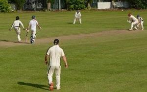 cricket match at East Leeds Cricket Club