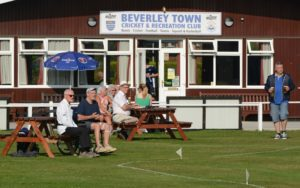 spectators watch at beverley town cricket club